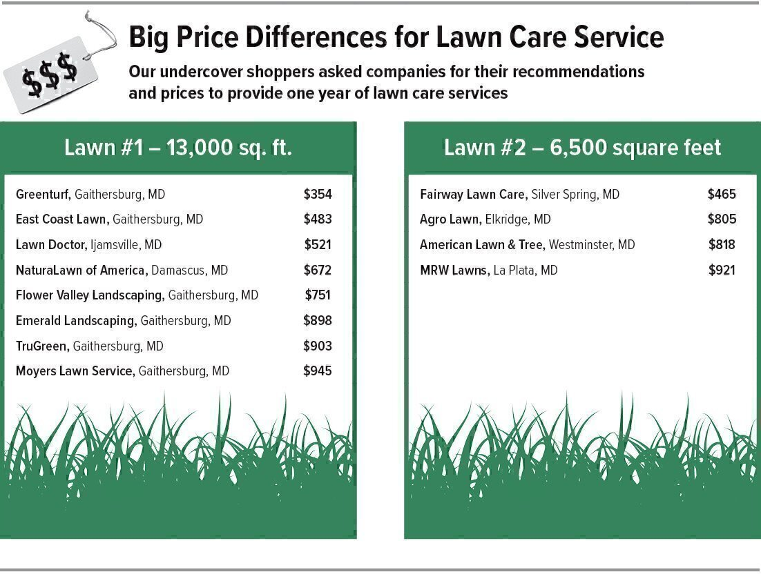 Selecting a lawn care service washington consumers for Lawn maintenance service