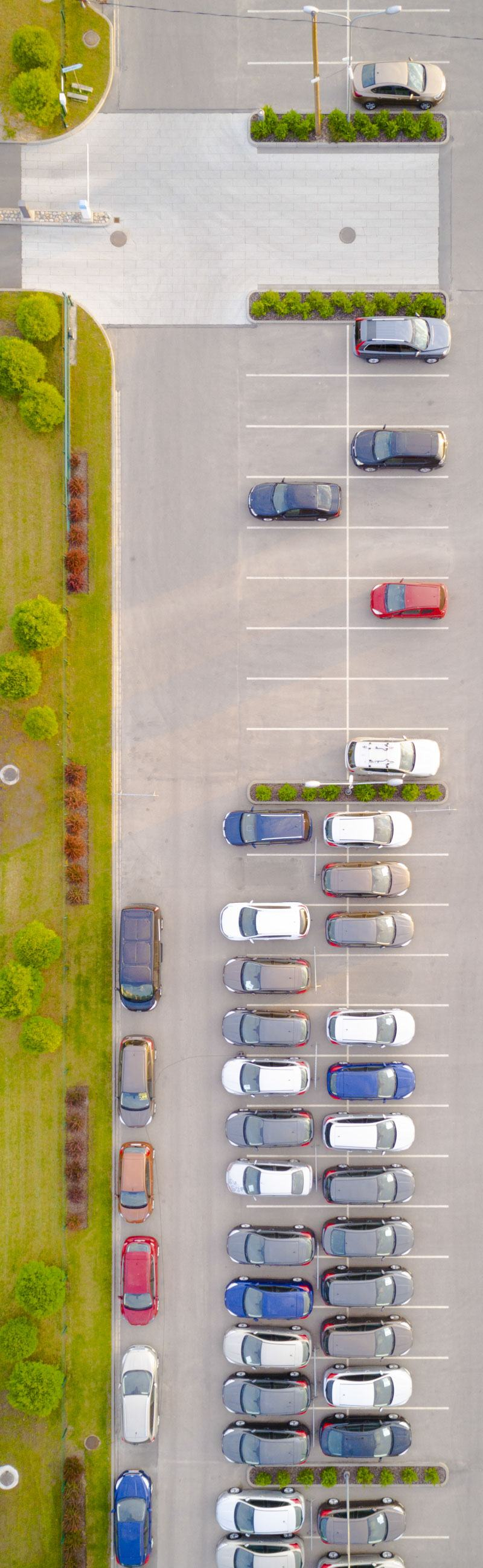 sidebar parking lot