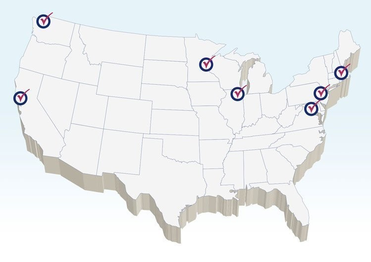 Map of Checkbook Markets